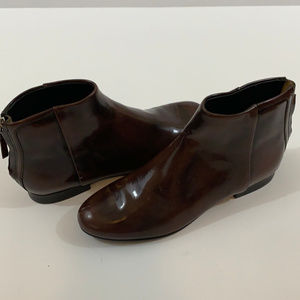 Theory leather ankle boots 9